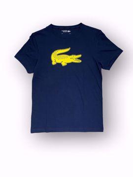 Billede af Lacoste Croco Logo T-shirt Navy
